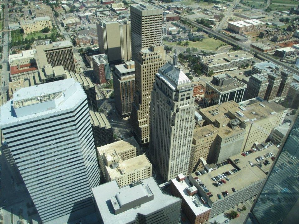 View of downtown OKC from the Devon Tower. Photo by Dean Schirf