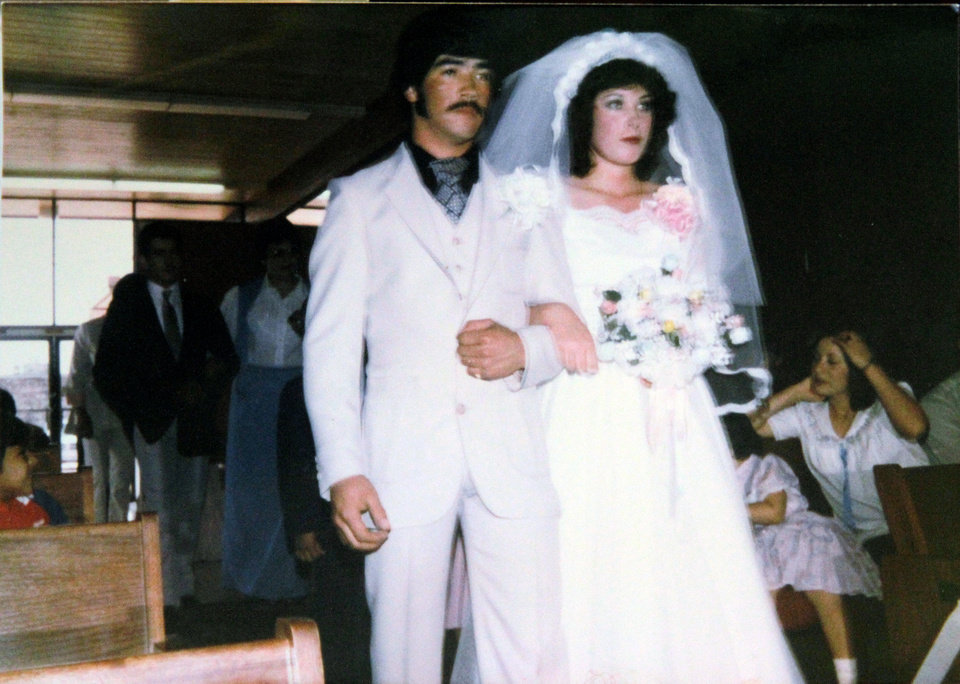 Frankie and Connie Marquez at their wedding on Feb. 27, 1983. (Photo supplied by Marquez family)  <strong></strong>