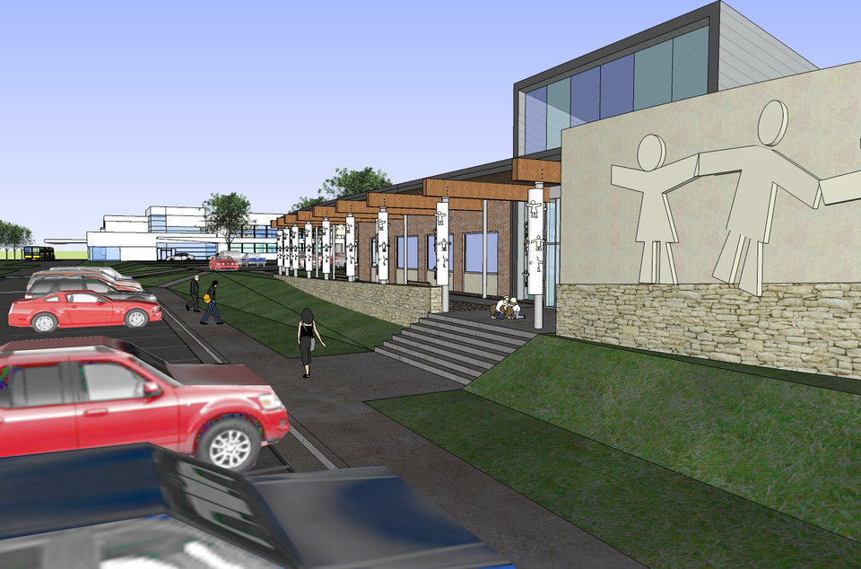 Photo - Artist's rendering of the new Educare center. Work will begin on the building Nov. 5 and the center is expected to open in January 2009. ORG XMIT: KOD