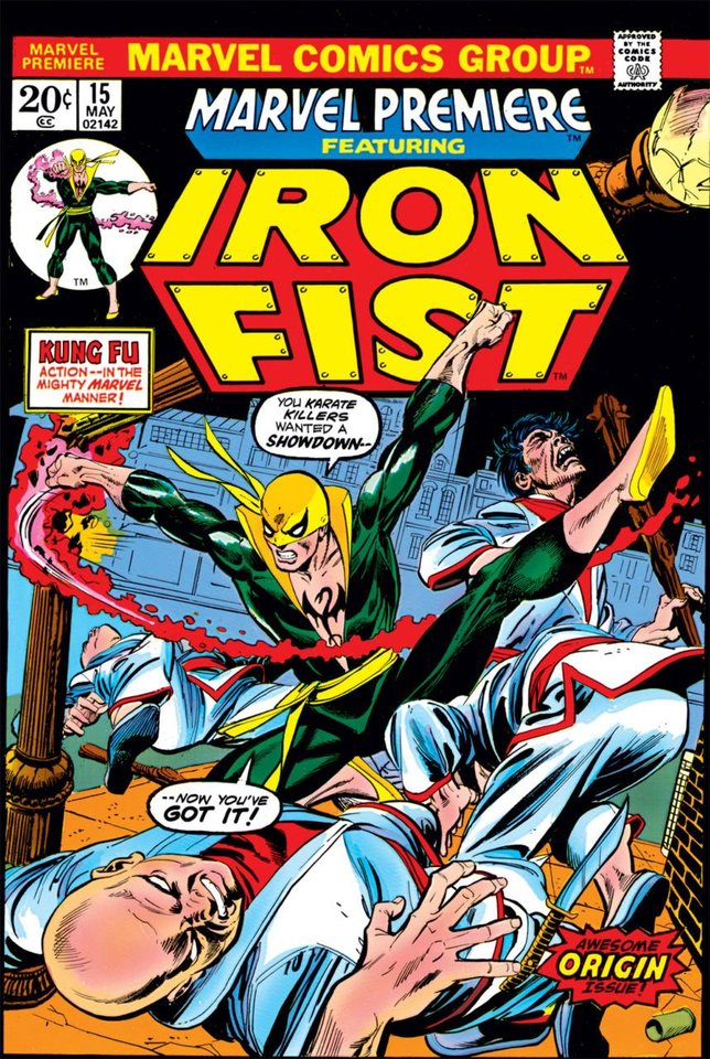 Photo - Iron Fist first appeared in Marvel Premiere #15. [Marvel Comics]