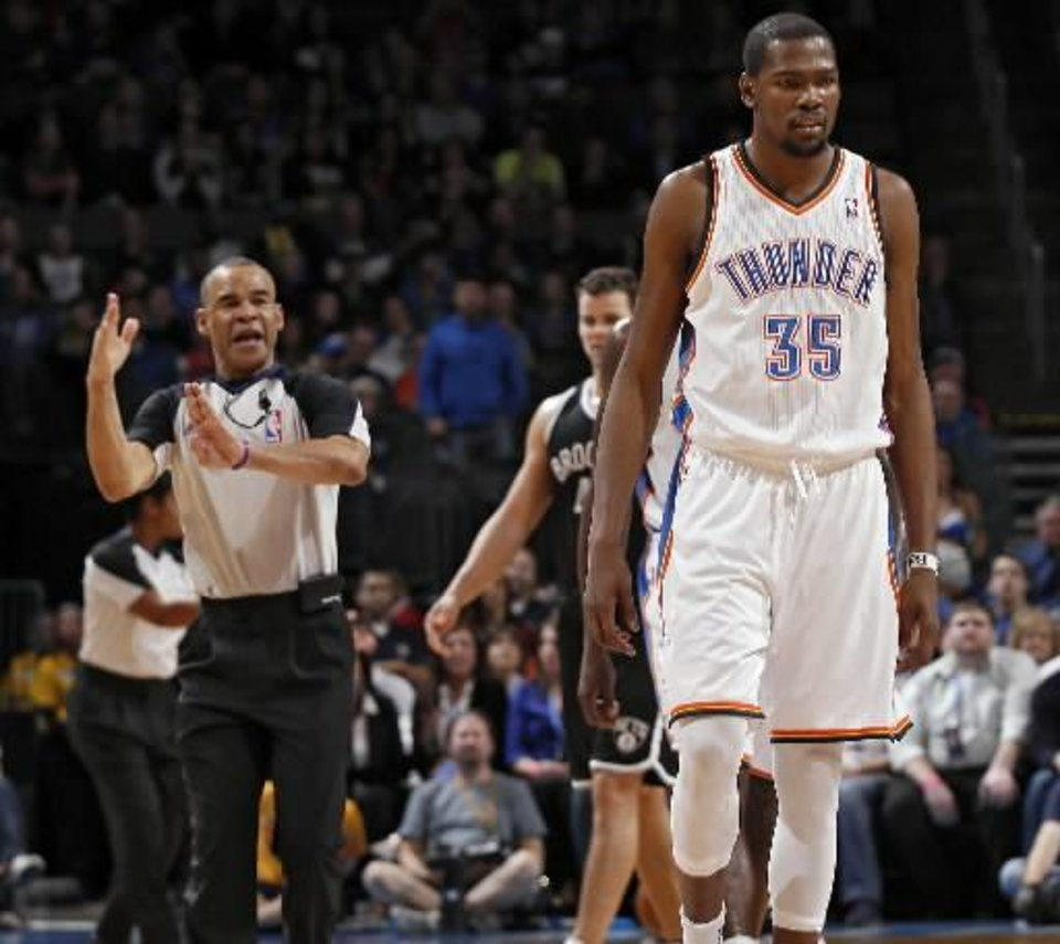 Thunder All-Star Kevin Durant was ejected for the first time in his career during this Jan. 2 game against Brooklyn at Chesapeake Energy Arena.