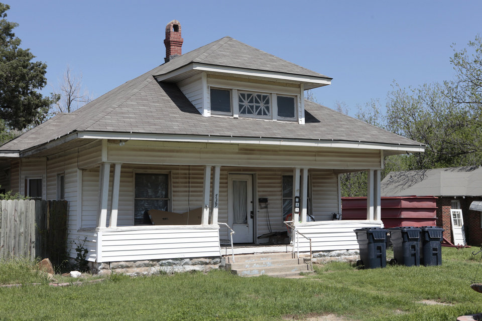 House at 739 NW 91 in Britton as it appeared Monday, April 2, 2012. <strong>David McDaniel - The Oklahoman</strong>