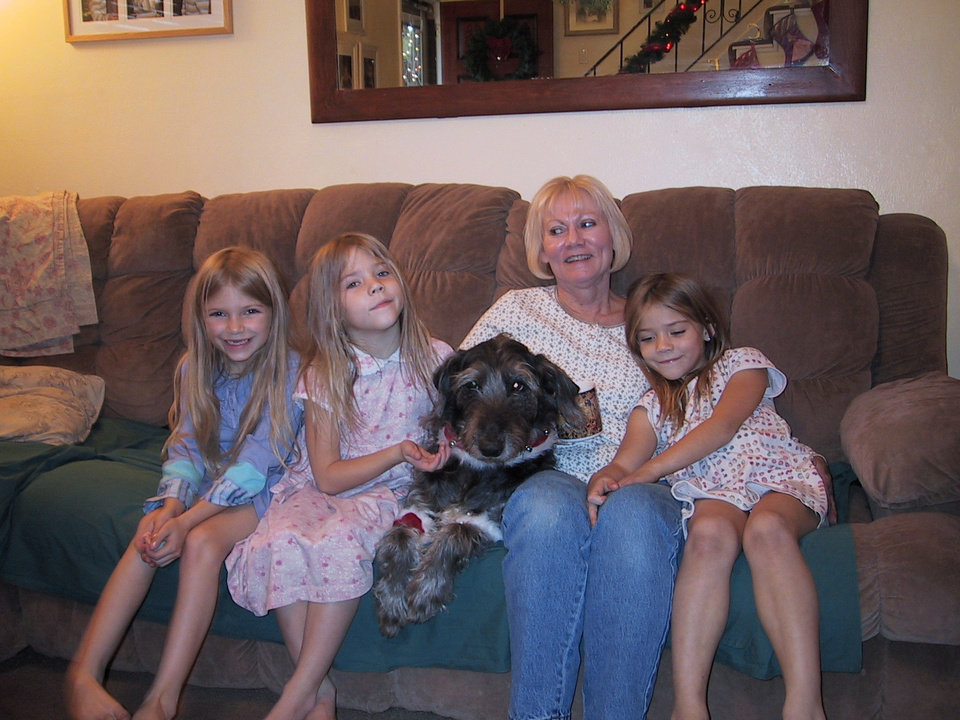 Vikie Kusek with grand children Abby, Nataly, Emily and granddog Dutch.<br/><b>Community Photo By:</b> Rachel Hurt<br/><b>Submitted By:</b> vikie, Midwest City