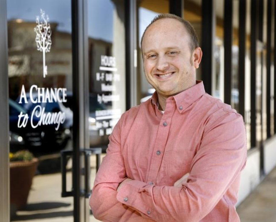 Photo -  Travis Ernst is clinical director for Chance to Change, a drug treatment program in north Oklahoma City. [Jim Beckel/The Oklahoman]