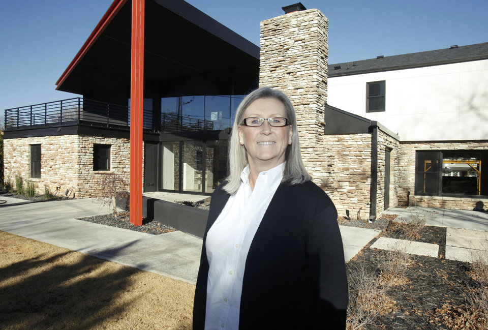 Jill Walker, with Maccini Construction, shows a home her company recently built at 6614 N. Penn in Nichols Hills, OK, Monday, December 10, 2012,  By Paul Hellstern, The Oklahoman