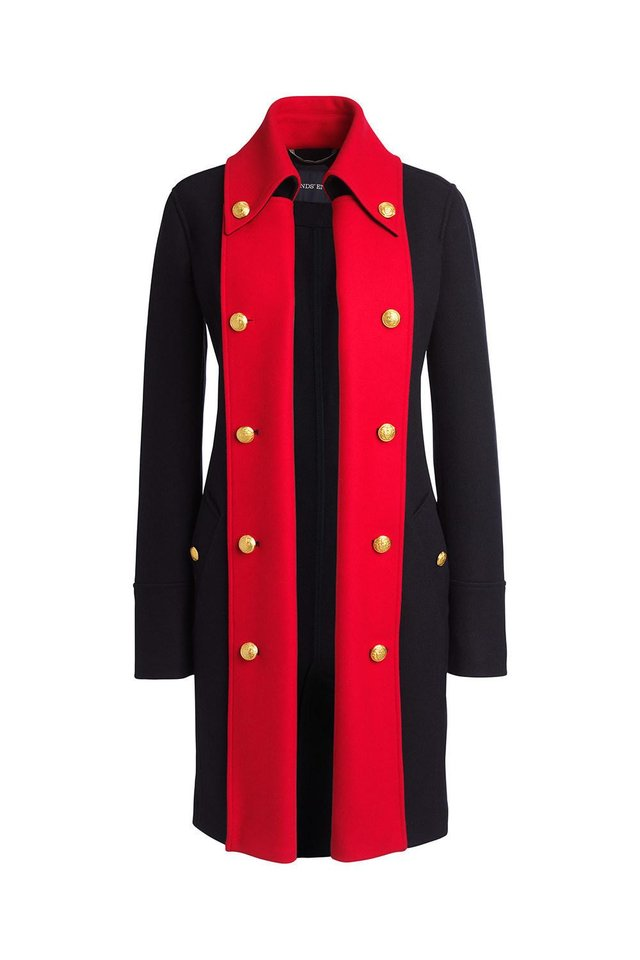Photo - Lands' End special-edition coat for women is a longer style with two colors. [Photo Provided]