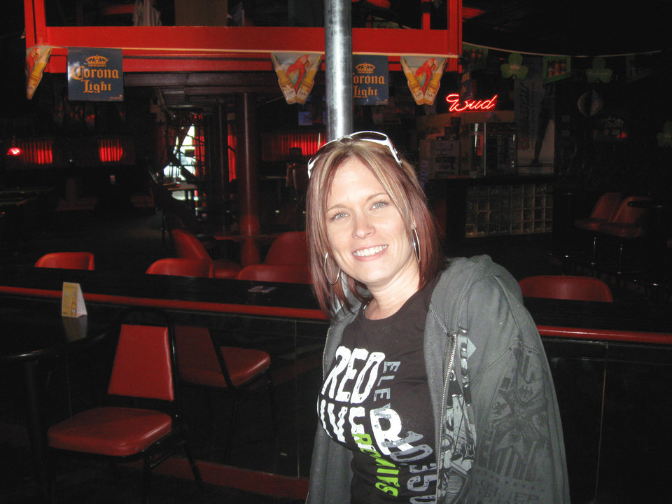 Photo - Kellie Hurtgam describes herself as a hard-working, single mother of two who happens to own a strip club in rural western Oklahoma. PHOTO BY RON JACKSON, THE OKLAHOMAN