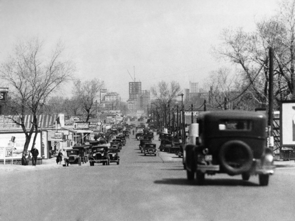 OKLAHOMA CITY / SKY LINE / OKLAHOMA:  No caption.  Photo undated and unpublished.  Photo arrived in library 04/13/1931.