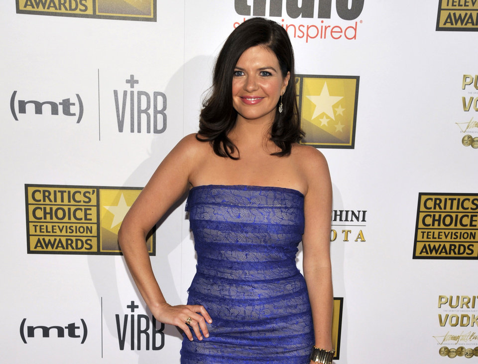 Photo - FILE - This June 10, 2013 file photo shows actress Casey Wilson at the Critics' Choice Television Awards in Beverly Hills, Calif. Wilson and Ken Marino will star as two apparently star-crossed lovers in the NBC comedy