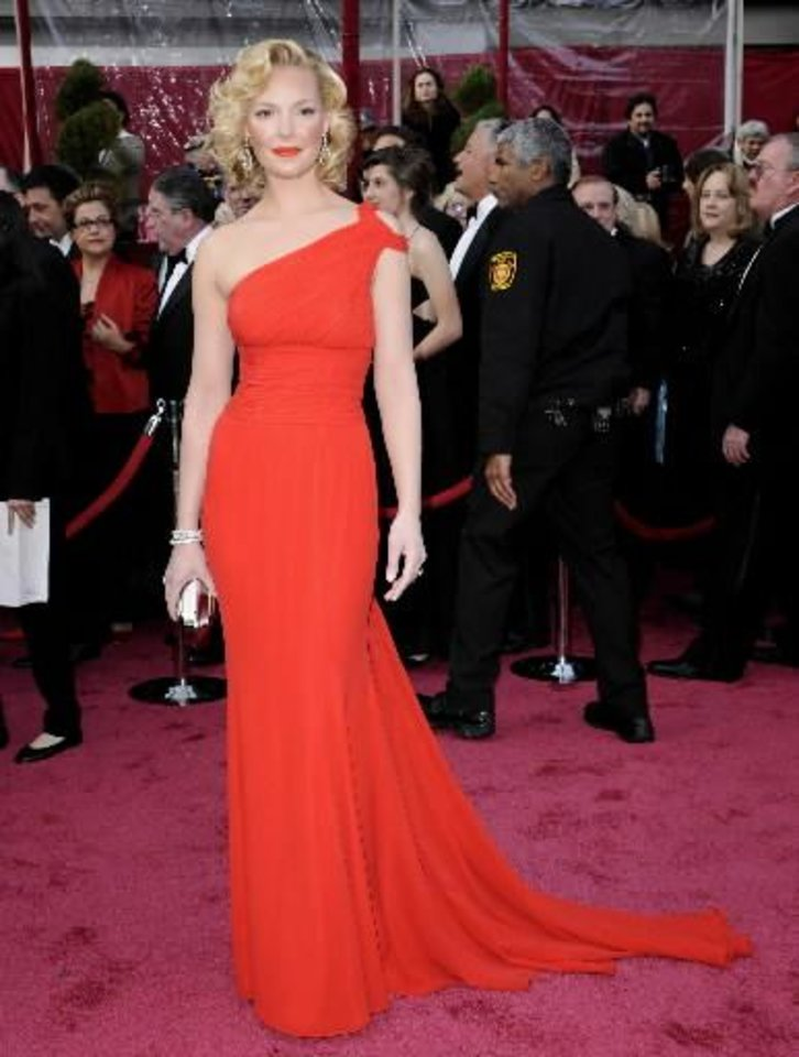 Actress Katherine Heigl on the red carpet for 2008 Academy Awards