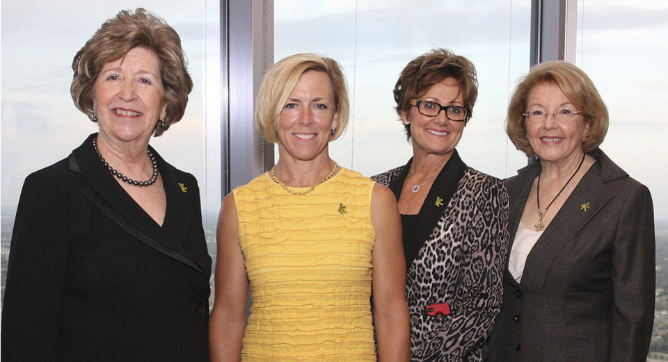 Photo - Lela Sullivan, Tricia Everest, Charlotte Richels, Rita Moore.  PHOTOS BY DAVID FAYTINGER, FOR THE OKLAHOMAN