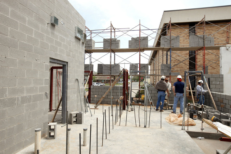 Dry storage room will be located next to the kitchen in the new addition to the Canadian County jail in El Reno.  Photo by Paul B. Southerland, The Oklahoman <strong>PAUL B. SOUTHERLAND</strong>