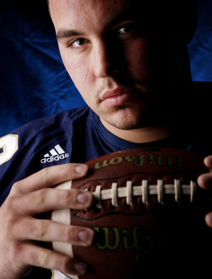 Kingfisher High School's Jakob Gaither All Little City Defensive Lineman.