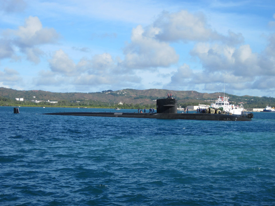 USS Oklahoma City SSN 723 Gets Underway From Guam