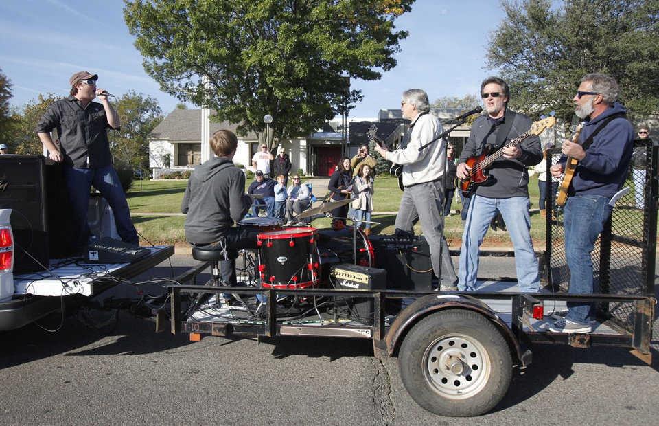 A band performs on the move during the University of Central Oklahoma's homecoming parade in Edmond, OK, Saturday, November 3, 2012,  By Paul Hellstern, The Oklahoman