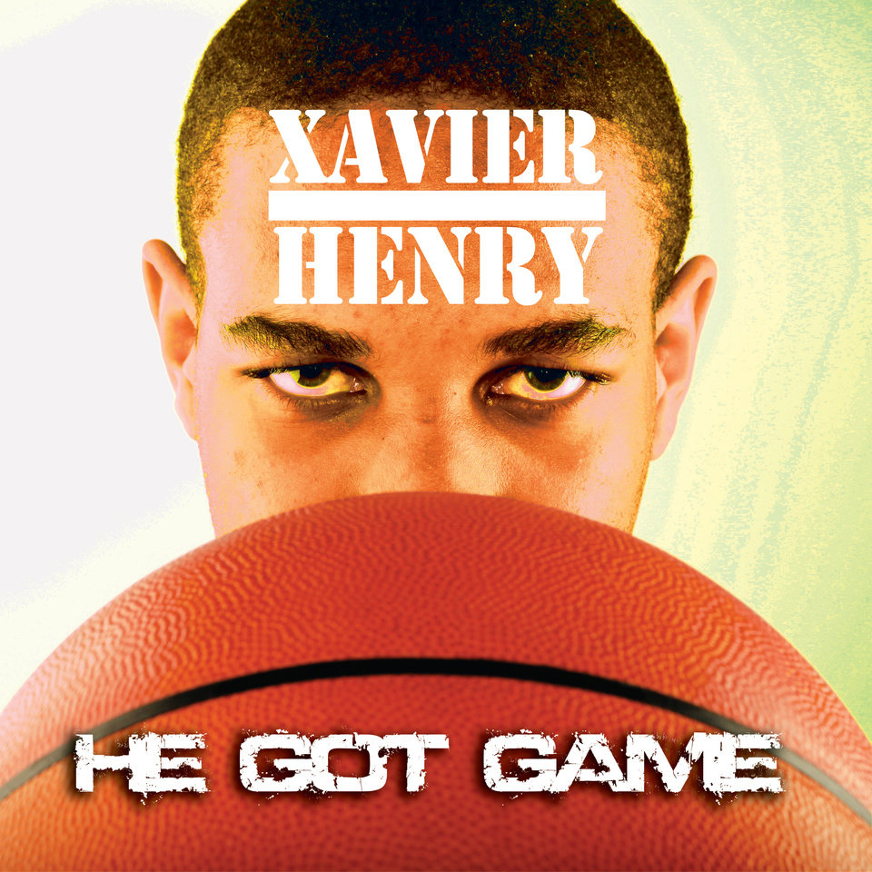 Photo - ALBUM COVER / XAVIER HENRY - HE GOT GAME GRAPHIC WITH PHOTO: All-State basketball player Xavier Henry. from Putnam City High School, poses for a photo recreating the album cover for Public Enemy's