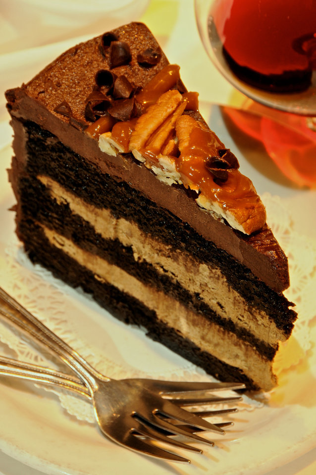 Chocolate Mousse Cake, Photo by Ben Pendleton