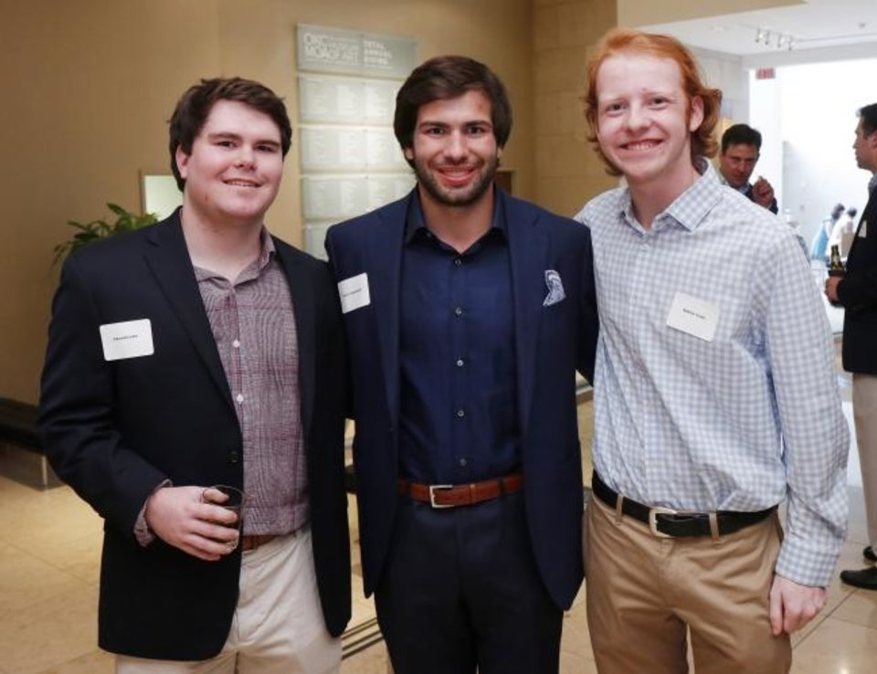 Photo -  Edward Cohn, Davis Lauderdale and Andrew Crain. [DOUG HOKE/THE OKLAHOMAN]