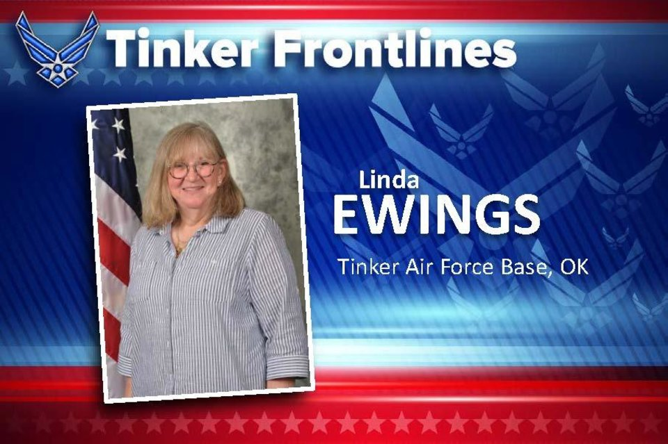 Photo - Linda Ewings, the installation deployment officer with the 72nd Logistics Readiness Squadron, has 40 years of combined active duty and civil service. Originally from Kane, Pennsylvania, Ewings enjoys reading, watching movies and watching