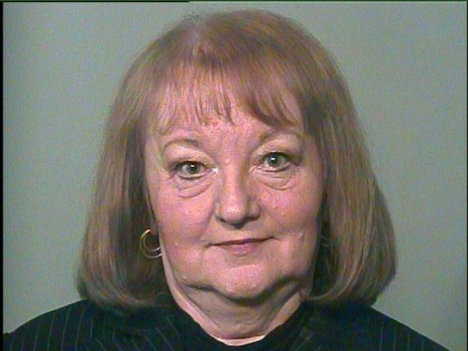 Former Sen. Debbe Leftwich had her photo taken today when she was booked on a felony charge at the Oklahoma County jail.