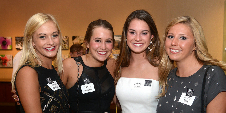 Caroline Blakley, Laura Joullian, Sydney Hood, Emily Ellis. Photo by David Faytinger, for The Oklahoman