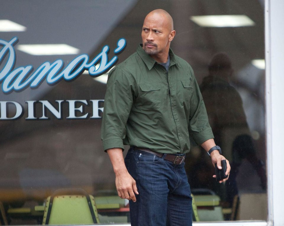 Dwayne Johnson appears in a scene from