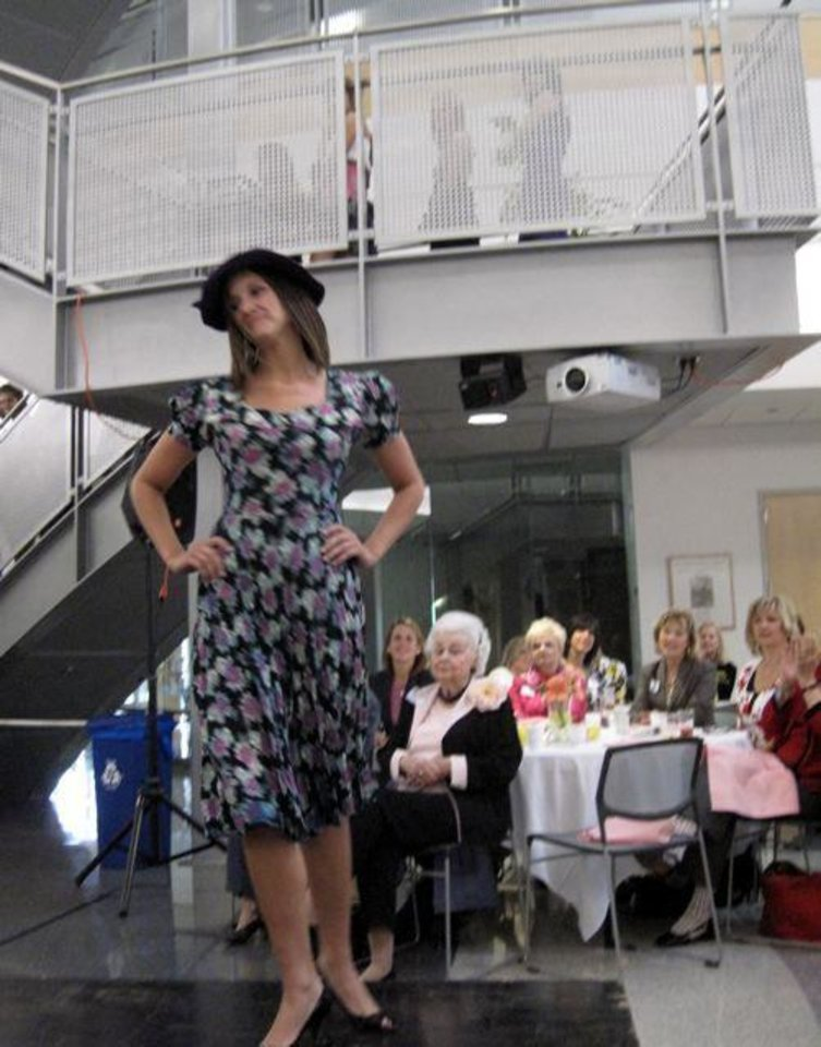 PANHELLENIC BRUNCH/VINTAGE FASHIONS....At the fashion show. (Photo by  Helen Ford Wallace).