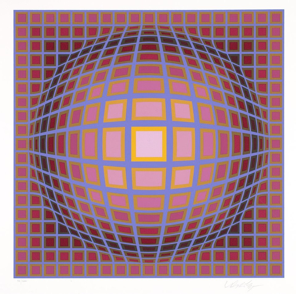 """Titan C"" by Victor Vasarely   Photo provided <strong>Photo provided</strong>"