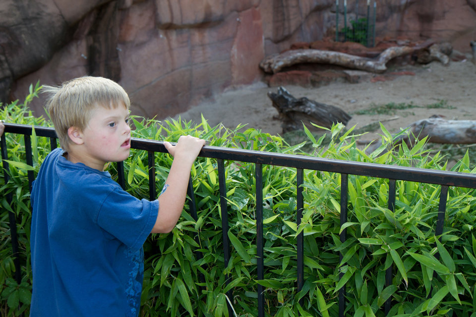 Photo - 9-year-old Reis Wathen at the Oklahoma City Zoo Friday, June 1, 2012. Photo by Steven Maupin, for The Oklahoman