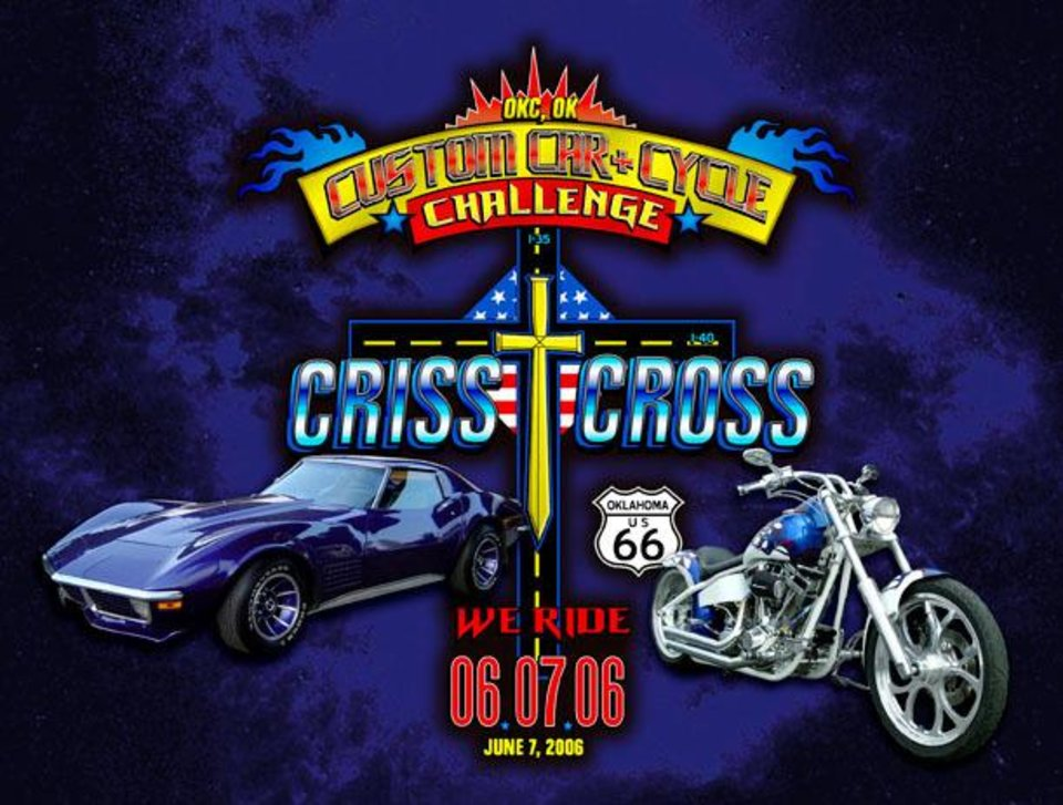 Poster for Charity Car & Cycle Cruise<br/><b>Community Photo By:</b> Criss Cross Challenge<br/><b>Submitted By:</b> Dana, Edmond