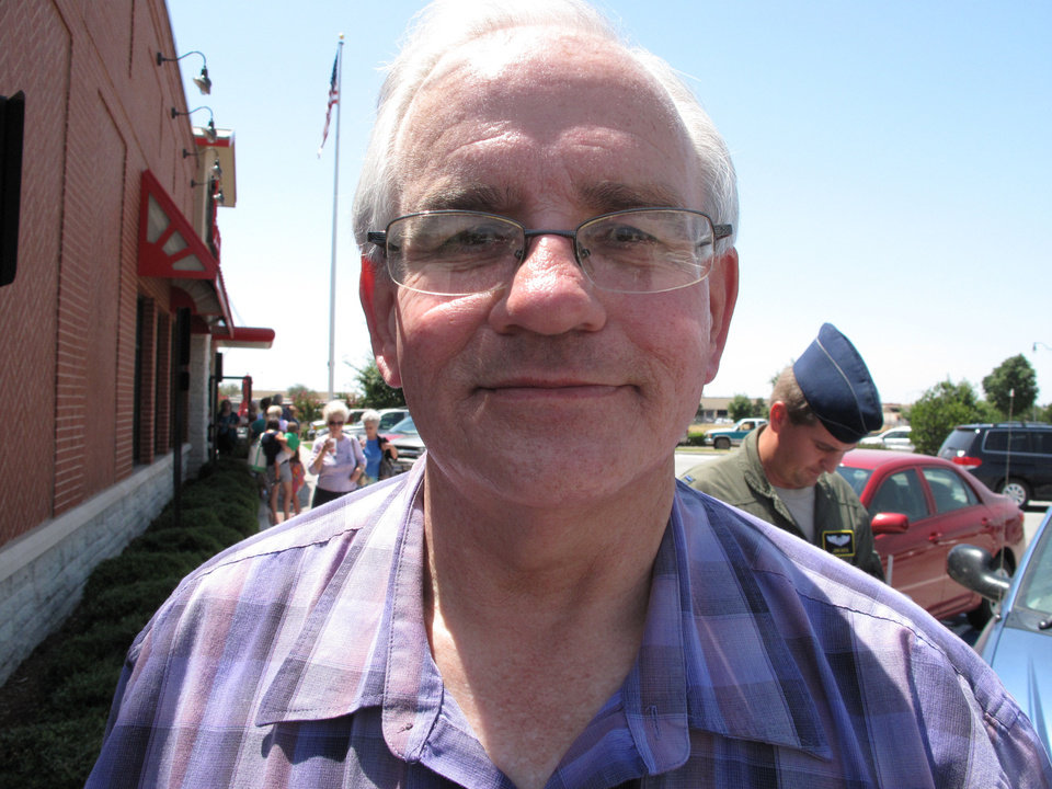 """Photo - The Rev. Steve Lopp """"We just want to support Chick-fil-A, and we appreciate their stand on biblical convictions."""""""