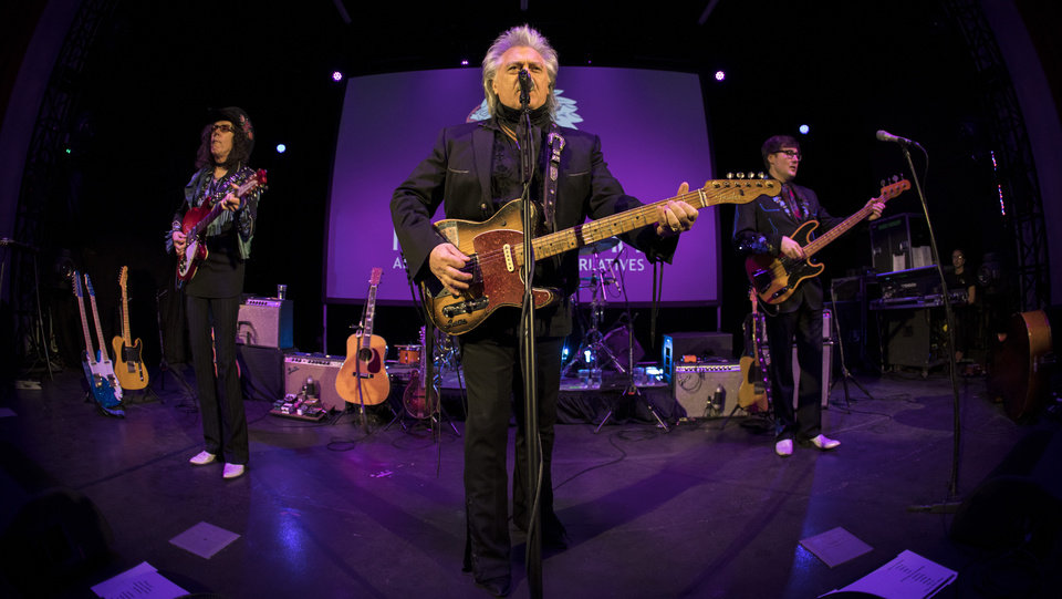 Photo -  Marty Stuart and his Fabulous Superlatives performing live at the Tower Theatre on Jan. 21. [Photo by Nathan Poppe, The Oklahoman]