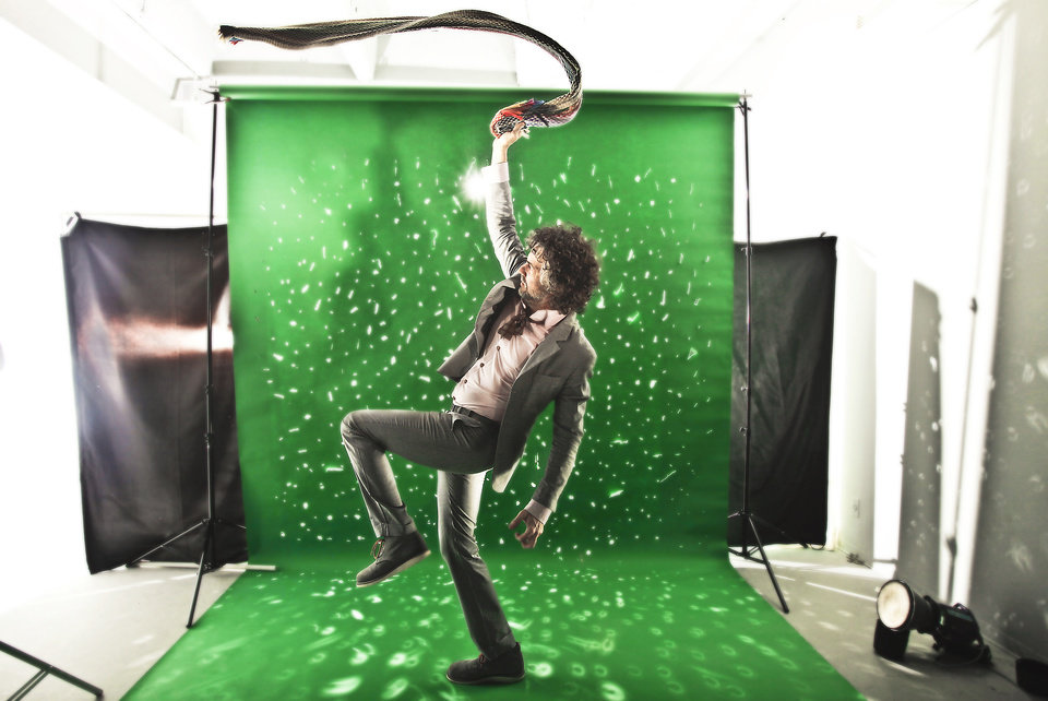 Flaming Lips front man Wayne Coyne poses for a photo in the OPUBCO Studio. Photo by Chris Landsberger, The Oklahoman