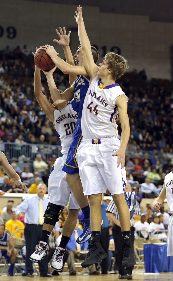 Photo - during the Class A boys state championship between Glencoe and Weleetka  at the State Fair Arena.,  Saturday, March 2, 2013. Photo by Sarah Phipps, The Oklahoman