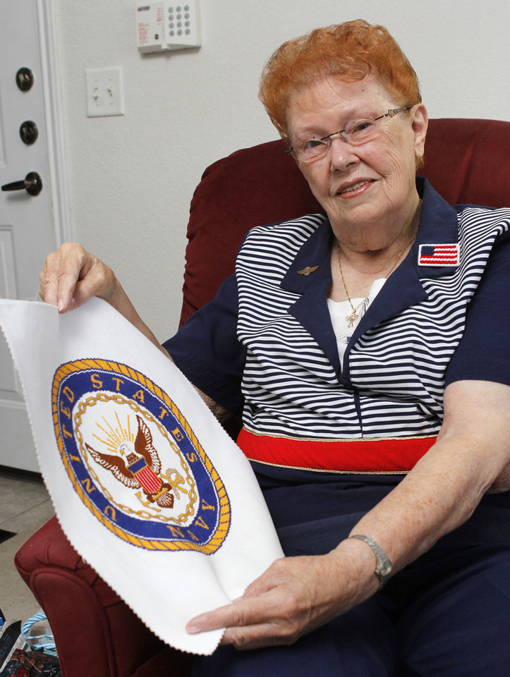 Navy WAVE veteran Barbara Maroney at her home in Oklahoma City, OK, Friday, November 9, 2012,  By Paul Hellstern, The Oklahoman