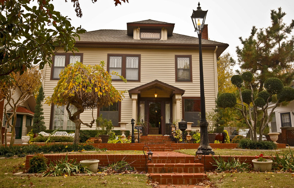 The antique decorated home of Wayne Fawcett in the Mesta Park Neighborhood on Wednesday, Nov. 16, 2011. in Oklahoma City, Okla..  Photo by Chris Landsberger, The Oklahoman