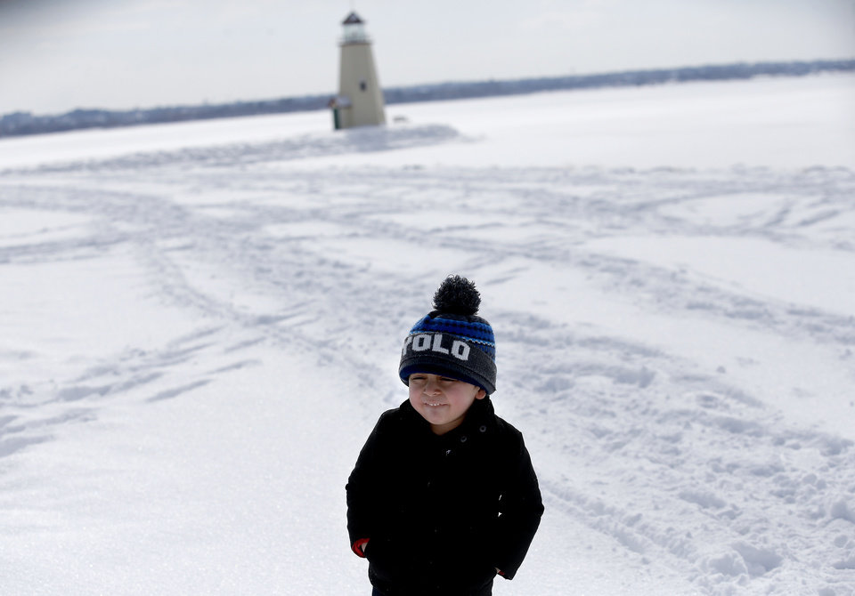 Photo - Thiago poses for a photograph at Lake Hefner in Oklahoma City, Wednesday, Feb. 17, 2021. [Sarah Phipps/The Oklahoman]