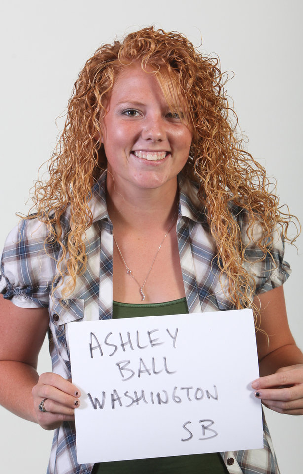 Photo - Mug Shot of Ashley Ball, a softball player from  Washington High School. Photographed at OPUBCO in Oklahoma City on Wednesday, August 19, 2009. By John Clanton, The Oklahoman ORG XMIT: KOD