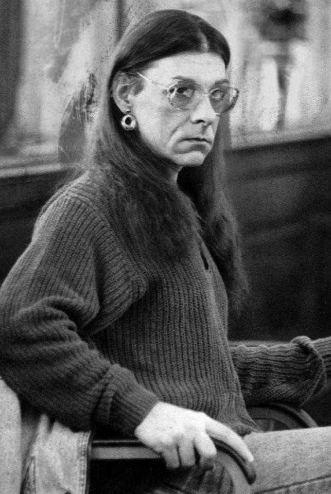 FILE - In this Jan. 15, 1993 file photo, Robert Kosilek, aka Michelle Kosilek, sits in Bristol County Superior Court, in New Bedford, Mass. Kosilek, a convicted murderer who won a court ruling ordering Massachusetts prison officials to allow her to have a sex-change operation, is now fighting for electrolysis treatments. (AP Photo/Lisa Bul, File)