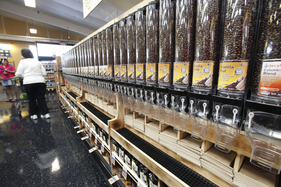 This is the coffee aisle at the new Sunflower Farmers Market grocery store in Oklahoma City, OK, Tuesday, Aug. 30, 2011. By Paul Hellstern, The Oklahoman
