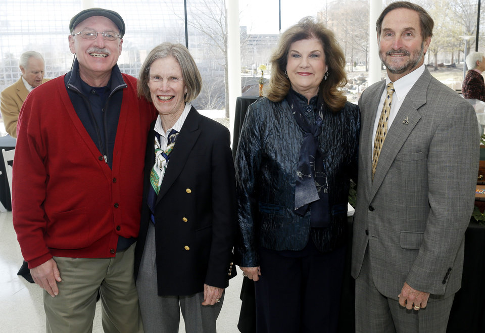 Photo - James Pickel, Nancy Anthony, Susanne and Don Betz. PHOTO BY DOUG HOKE, THE OKLAHOMAN