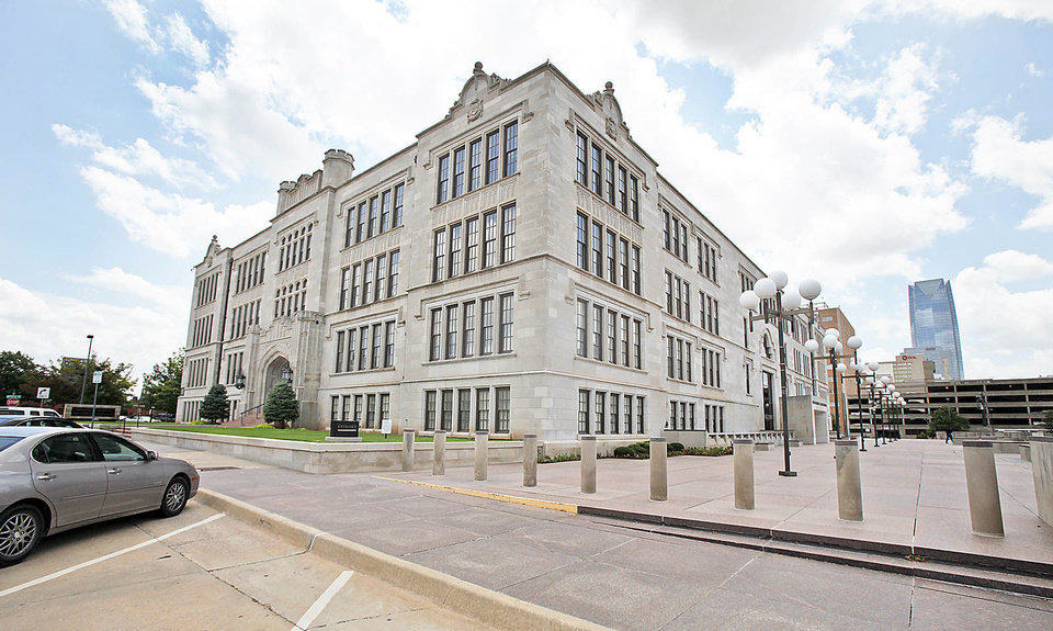 Central High School, 800 N Harvey Ave., is shown Friday in Oklahoma City.  Photo By  Steve Gooch, The Oklahoman