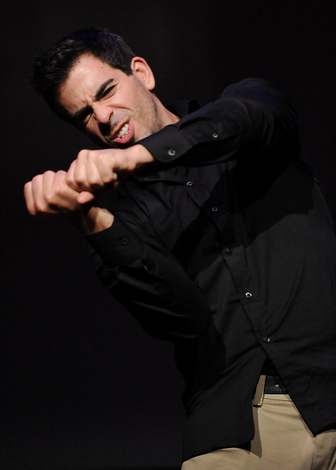 Actor Eli Roth participates in a Q&A after a screening of 'Inglourious Basterds' at the Museum of Jewish Heritage on Thursday, Aug. 13, 2009 in New York.  (AP Photo/Evan Agostini)  ORG XMIT: NYEA111