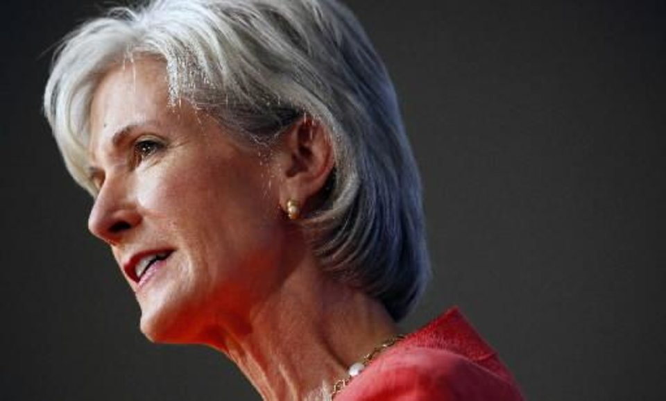 Photo - Health and Human Services Secretary  Kathleen  Sebelius answers questions about health care during an AP newsmaker interview in Washington, Tuesday June 16, 2009. (AP Photo/J. David Ake)