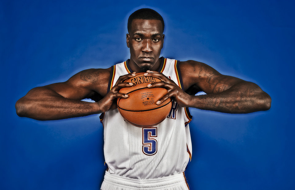 NBA BASKETBALL: Kendrick Perkins during the Oklahoma City Thunder media day at the Chesapeake Energy Arena in Oklahoma City, Okla. on Tuesday, Dec. 13, 2011. Photo by Chris Landsberger, The Oklahoman