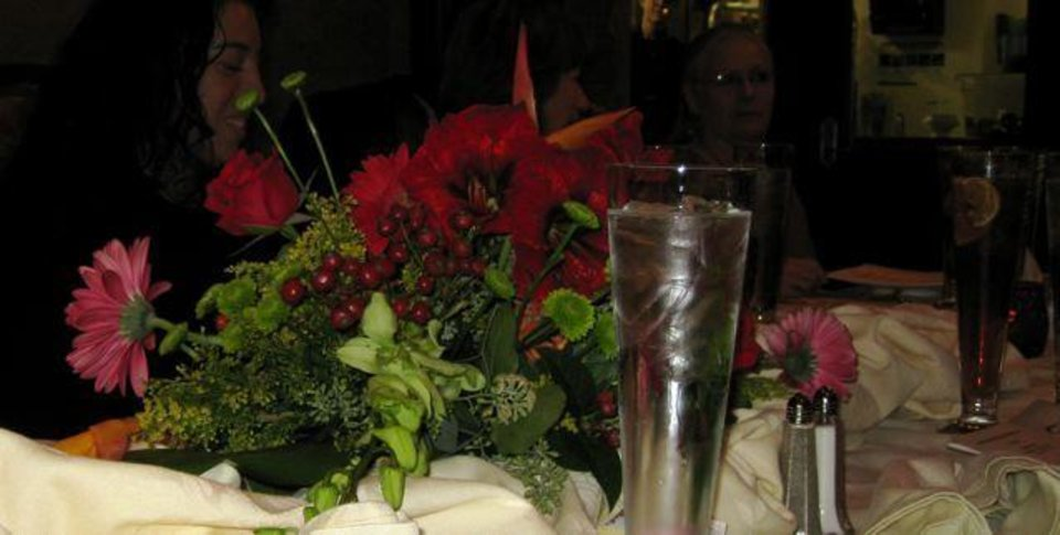 BEST FOOD EVER....Beautiful centerpiece. (Photo by Helen Ford Wallace).