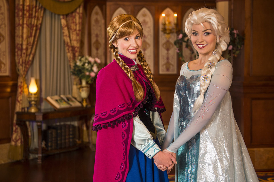 Photo - This undated image released by Disney shows Disney characters Anna, left, and her sister Elsa from the animated film