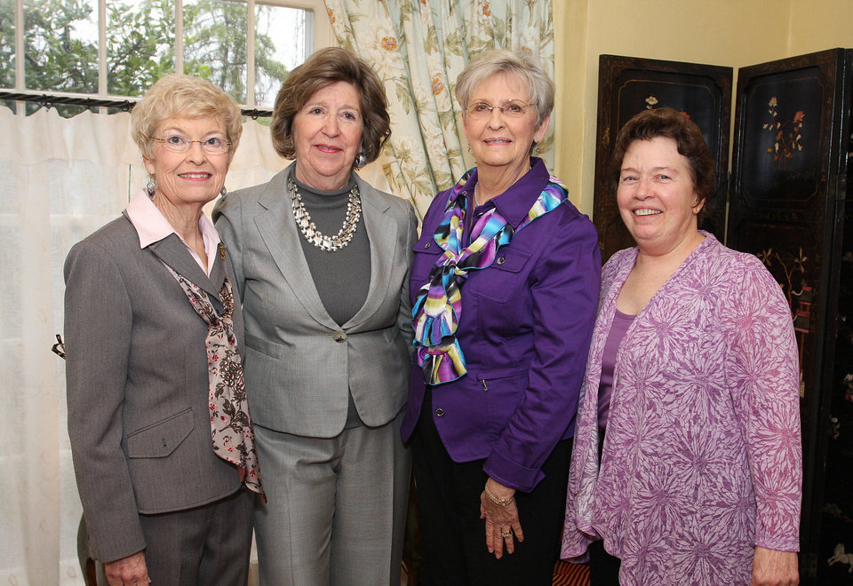 Ann Millerborg, Lela Sullivan, Ginny Dick, Ann Kruse.  PHOTO BY DAVID FAYTINGER, FOR THE OKLAHOMAN