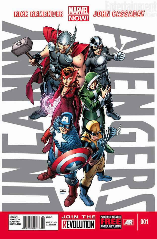 "John Cassaday's cover to ""Uncanny Avengers"" No. 1. Marvel Comics. <strong></strong>"