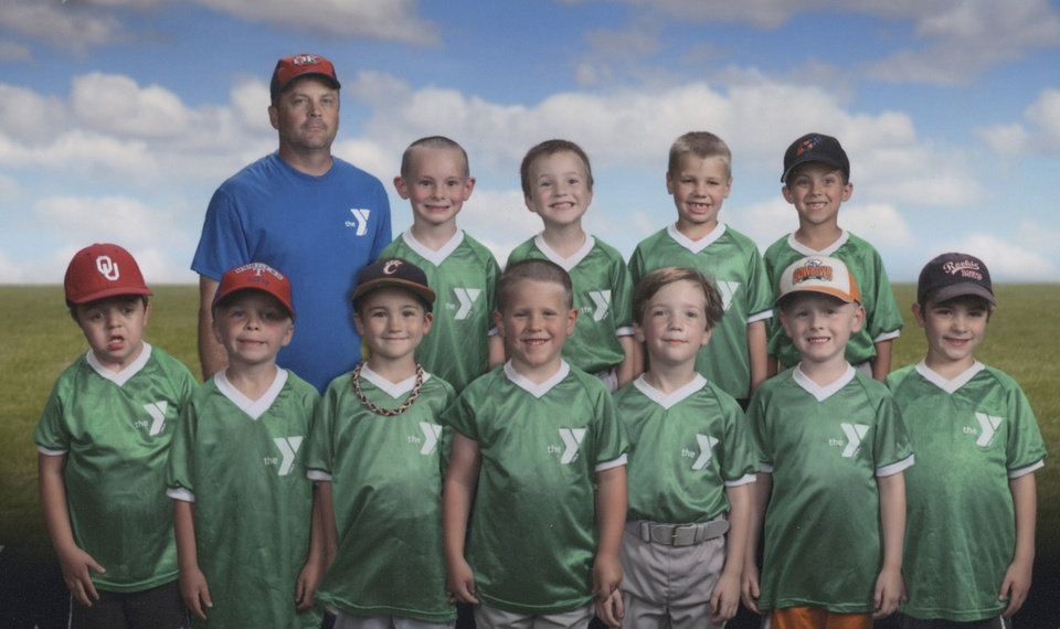 Photo - Hugh James Howard, bottom left, with his T-Ball team. PHOTO PROVIDED